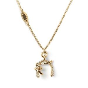 Juicy Couture I Wish For Bone Gold Charm Necklace